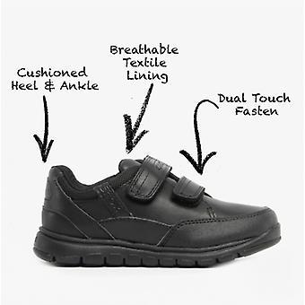 GEOX Jr Xunday B Boys Leather School Shoes Black