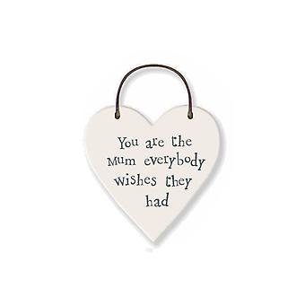 You're the Mum Everybody Wants - Mini Wooden Hanging Heart - Cracker Filler Gift