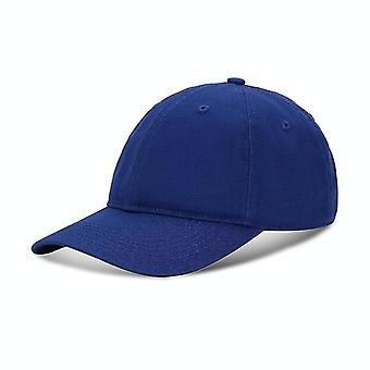 Baseball Cap Outing Leisure Peaked Cap Solid Color Washed Sun Hat, Size:One Size(Blue)