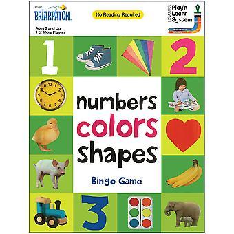 100 המילים הראשונות מספרים צבעים צורות משחק בינגו