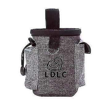 Puppy Pet Dog Obedience Training Treat Feed Bait Food Snack Pouch Belt Bags(Gray)