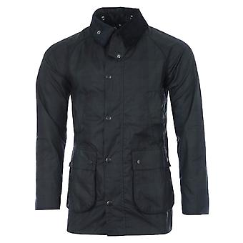 Barbour White Label Beadle Black Watch Waxed Cotton Jacket - Navy