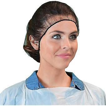 Disposable Hair Nets Durable Nylon Caps Breathable Honeycomb 100pcs