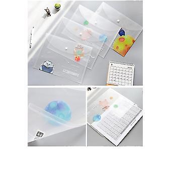 Carpetas de archivos a4 botones bolsas de documentos carpeta transparente para papel de oficina