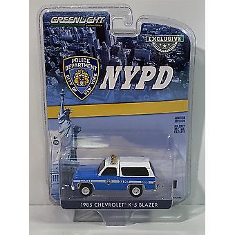 1985 Chevrolet K5 Blazer NYPD 1:64 Échelle Greenlight 30245