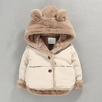 Autumn Winter Baby Soft Jacket Cartoon Hooded Coat