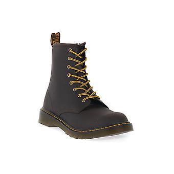 Dr martens 1460 y dark brown wild lamper boots / boots