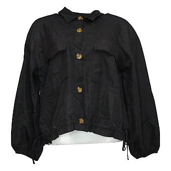 Brittany Humble Women's Cropped Cargo Jacket Black 755972