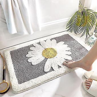 Bath mats rugs soft water absorption bath mat in the bathroom anti slip rug toilet bathtub room floor mats gray