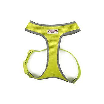 Pet collars harnesses comfort mesh dog harness hi vis medium 44-57cm
