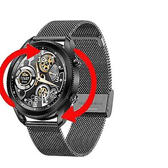 Tk88 slimme horloge mannen 1,28 inch roterende bezel scherm bluetooth oproep muziek afspelen smartwatch mannen