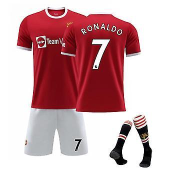 Cristiano Ronaldo Manchester United Jersey,jersey No.7 (children's Clothing Set)