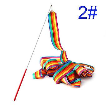 Kaunis värikäs polyesterinauha 1 kpl Tanssinauha Kuntosali Rytminen Voimistelu baletti