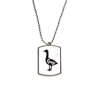 Goose Animal En acier inoxydable Pet Tag Pendentif