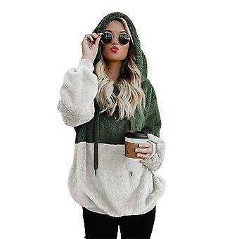 Soft Teddy Bear Hoodie Women Hooded Fleece Sweatshirt Pullover Warm Jumper Top
