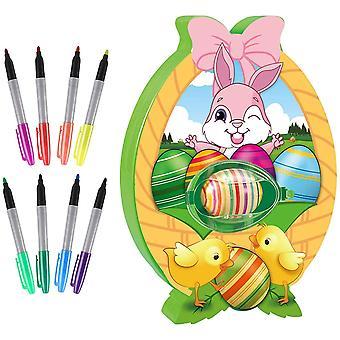 Décorations d'oeufs de Pâques ensemble de coloration pour des filles et des garçons, kit de peinture d'oeufs