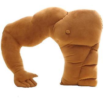 Fidanzato Enorme braccio Cuscino Uomo Muscolo Abbraccio Corpo Letto Caldo Divano Cuscino