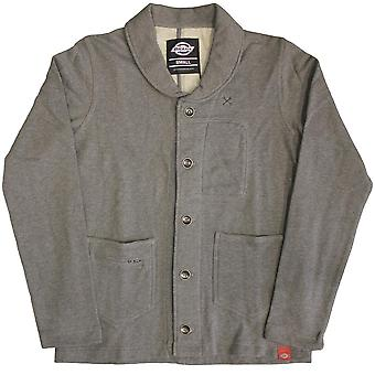 Dickies Flagstaff Shawl Collar Sweatshirt Dark Grey Melange