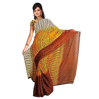 Tessuto di Banni Georgette stampata Casual Sari Sari Bellydance