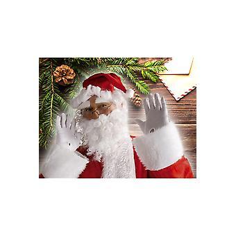 Perücken-Weihnachtsmütze mit Perücke, Bart, Augenbrauen