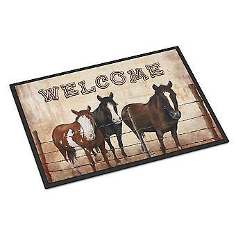 Velkommen måtten med heste indendørs eller udendørs Mat 18 x 27