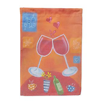 Wine Toast Cheers by Sarah Latham Flag Canvas House Size