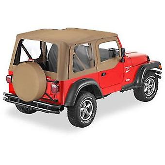 Bestop 51364-01 Black Crush Replace-A-Top Soft Top Clear Windows; No Door Skins Included for 1995-1998 Suzuki Sidekick