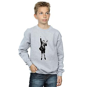 AC/DC Boys Angus Young Cut Out Sweatshirt