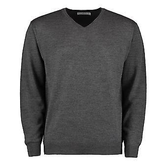 Kustom Kit Mens Long Sleeve Merino Blend Sweater