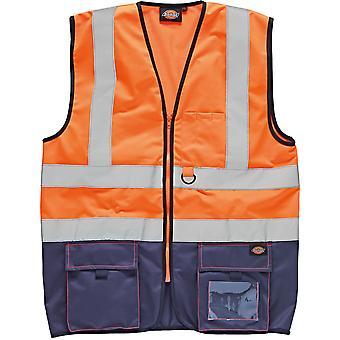 Dickies męskie wysokiej widoczności a mianowicie Vest Kamizelka bez rękawów w dwóch odcieniach