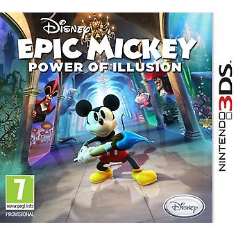 Disney Epic Mickey Power of Illusion (Nintendo 3DS) - New