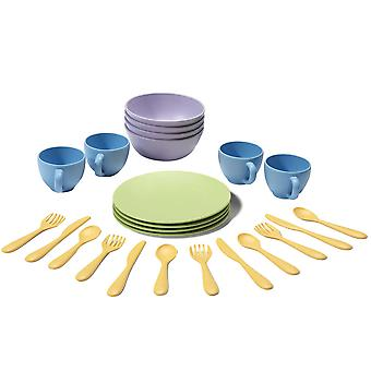 Green Toys BPA Free Kid's Dish Set Dishwasher Safe FDA Approved 100% Recycled