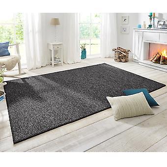 Design carpet wolly in wool optics Anthazit