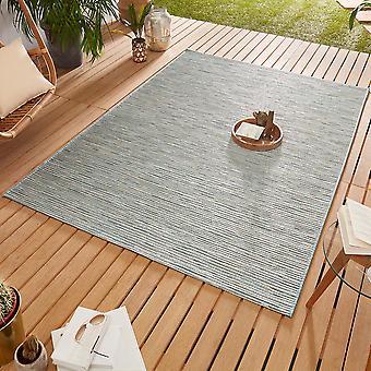 Design Outdoorteppich Web carpet flat weave   Ivy cream blue