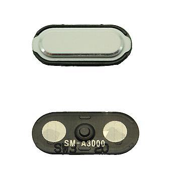Hvit Samsung Galaxy A3 hjem-knappen - GH98-34721A