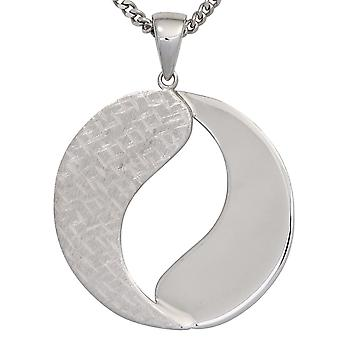 Pendants silver pendant 925 sterling silver rhodium plated partly frosted