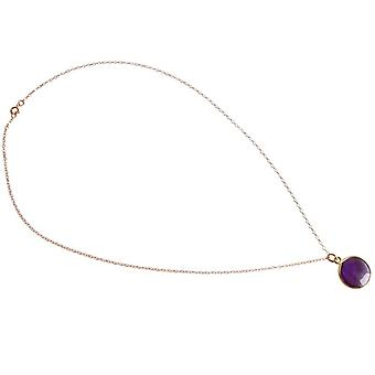 Amethyst chain purple amethyst necklace gold plated