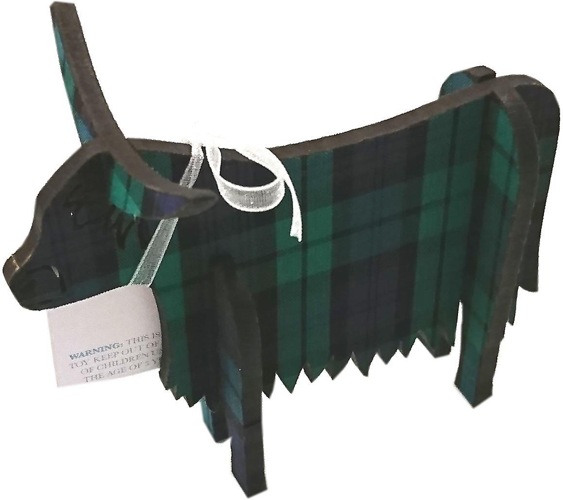 Highland Cow 3D Standing Medium Black Watch
