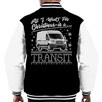 All I Want For Christmas Is A Transit Men's Varsity Jacket