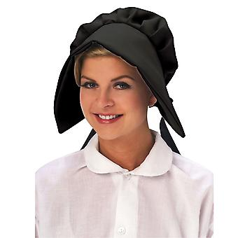 Puritan Wagon Train Colonial Victorian Womens Costume Deluxe Black Bonnet