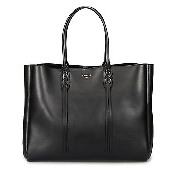 Lanvin Medium svart kantas Shopper Tote