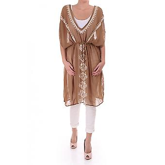 Day Womens Long Silk Embroidered Tunic