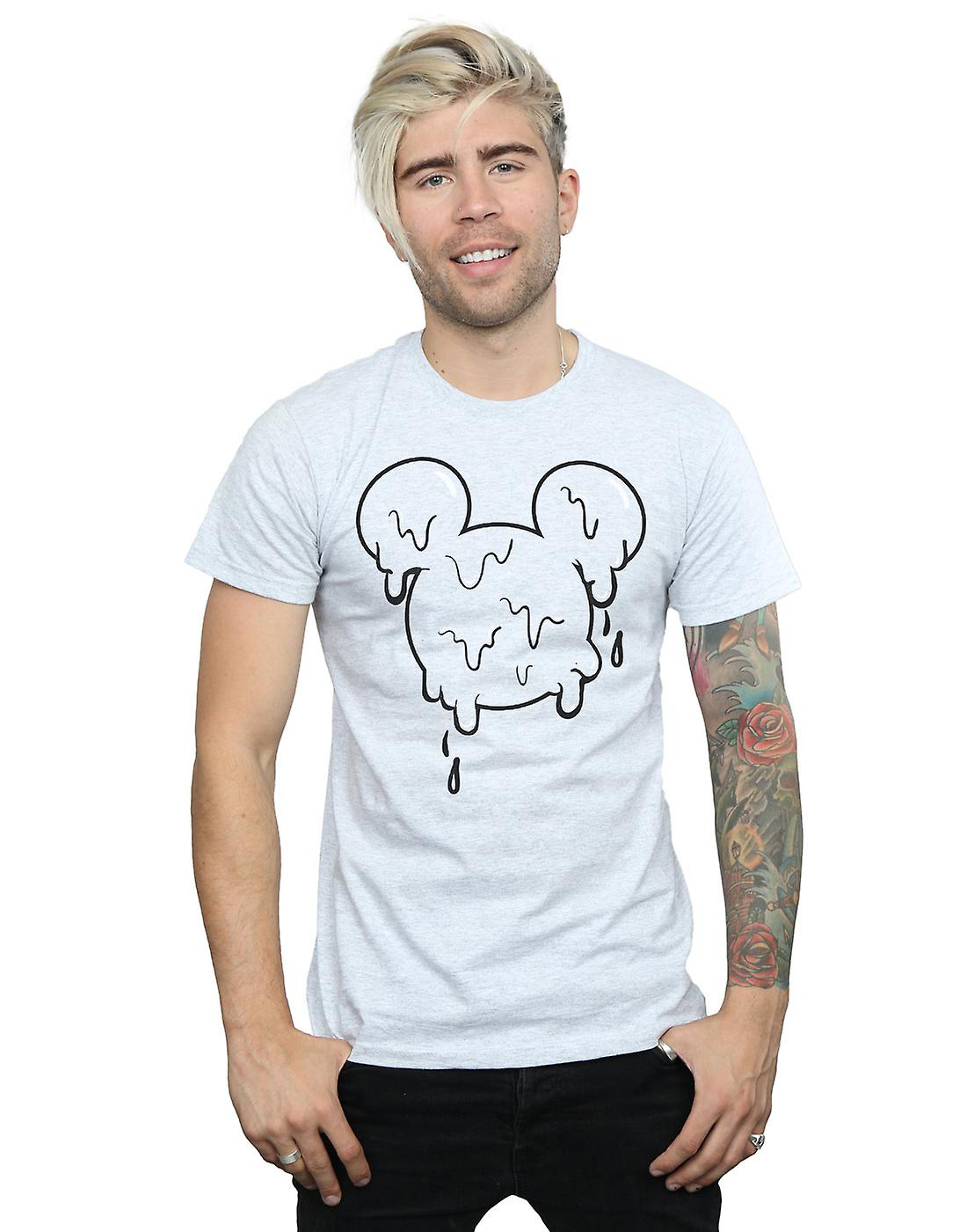 Disney Men's Mickey Mouse Ice Cream Head T-Shirt