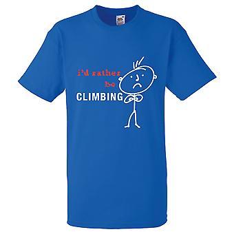 Miesten olen pikemminkin olla kiipeily kuninkaallinen sininen t-paita