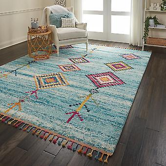 Nómada alfombras Nmd04 por Nourison en Aqua