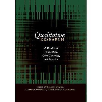 Investigación cualitativa: Un lector en filosofía, conceptos fundamentales y práctica (contrapuntos)