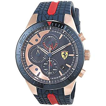 Scuderia Ferrari Cronógrafo cuarzo de reloj men con correa de silicona 830591