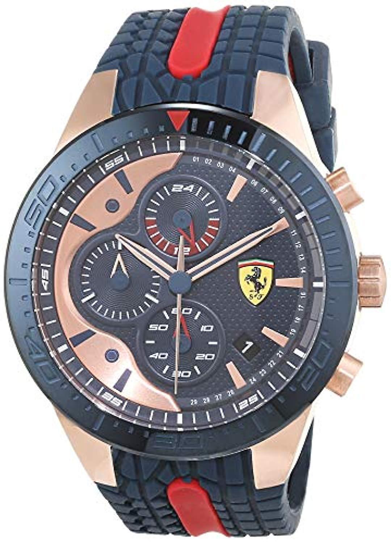 Scuderia Ferrari Chronograph Quartz Men S Watch With Silicone Strap 830591 Fruugo No