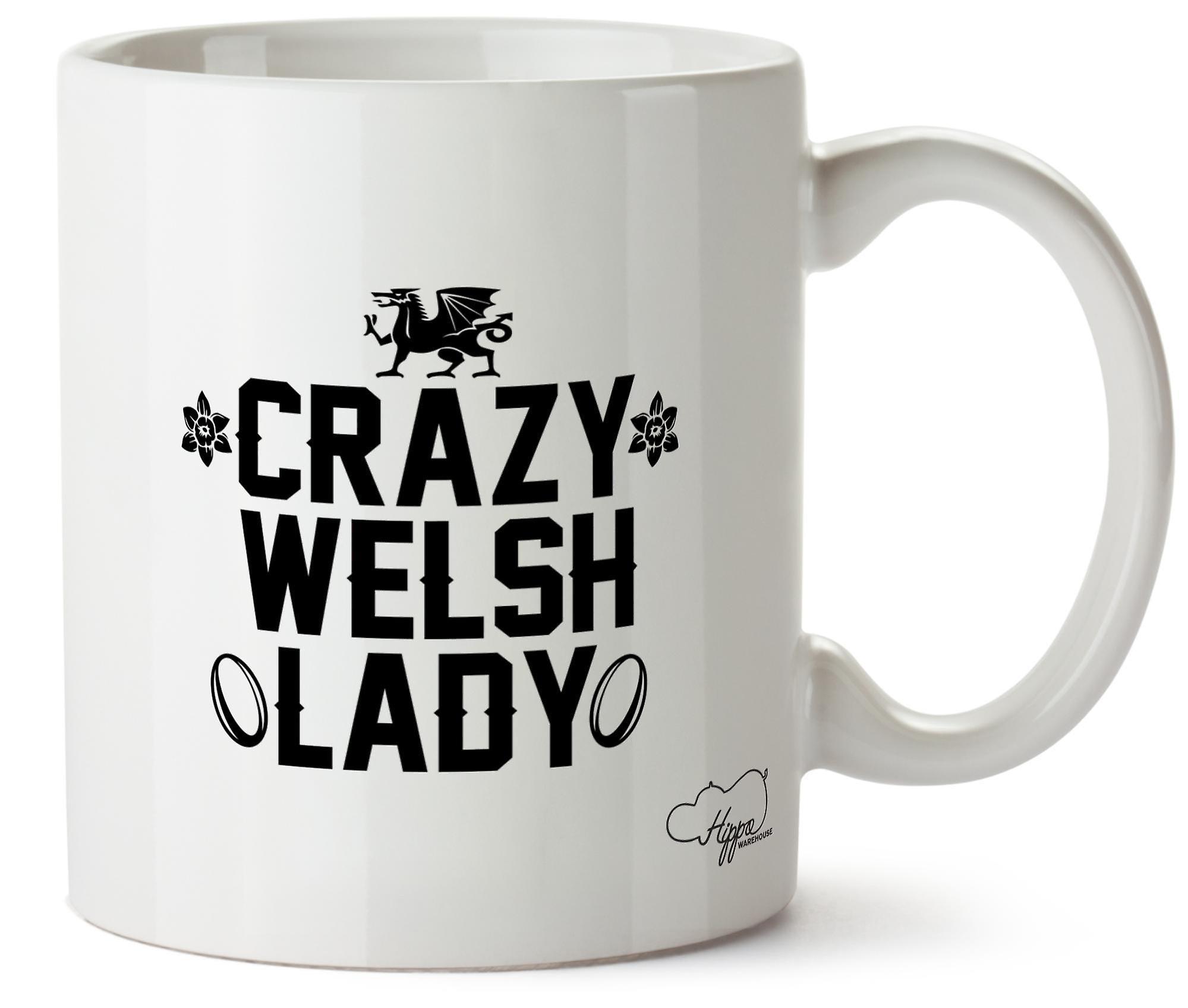 Hippowarehouse ума валлийский леди напечатаны Кубка керамическая кружка 10oz