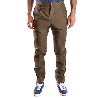 Daniele Alessandrini Ezbc107167 Men's Green Cotton Pants